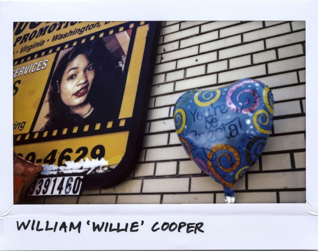 "A balloon for Community Activist William ""Willie"" Cooper, 58-year-old, is seen next to a billboard in the 100 block of West 95th Street in Chicago, Illinois on July 18, 2017. 