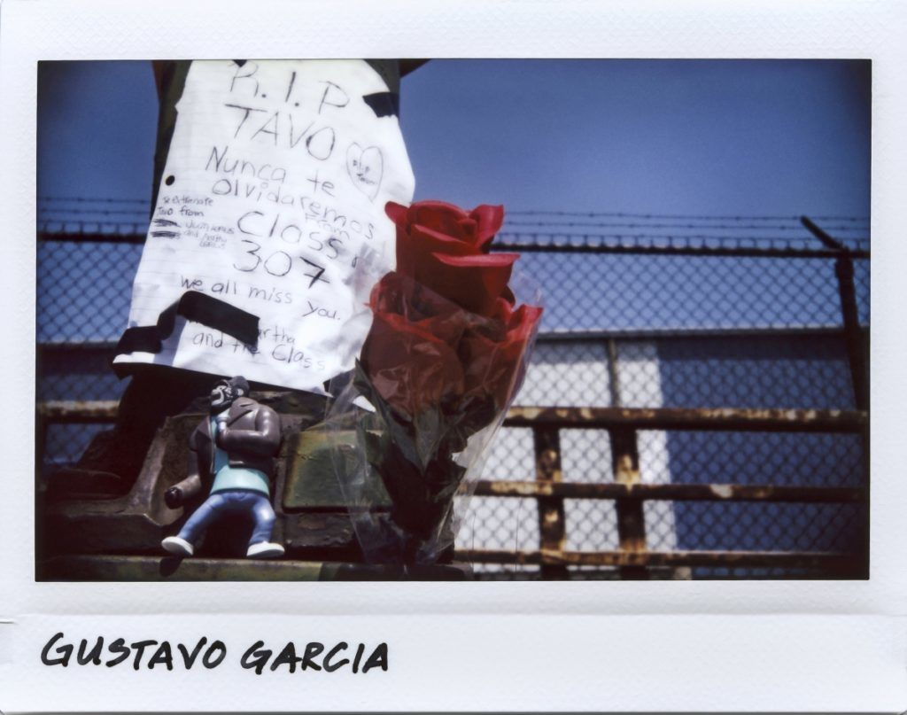 A vigil for Gustavo Garcia, 10-year-old, on the overpass at East 95th and Avenue N in Chicago, Illinois on July 19, 2017. 
